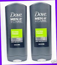 2 Dove Men +Care EXTRA FRESH Purifying Body and Face Wash Shower Gel