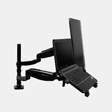 Gas Spring Full Motion Tilt and Swivel Dual Monitor and Laptop Arm Mount