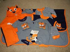 NWT NB GYMBOREE LITTLE ROAR Tiger 9pc Set Jacket Shirt Pants Hat Socks Blanket +
