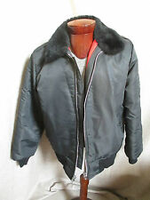 RARE Vintage Dickies Made In USA Black Nylon with Lining  Jacket Size M