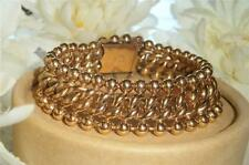 QUALITY ANTIQUE VINTAGE 1940'S ROSE GOLD GF CHUNKY LINK BRACELET 44 GRAMS!!