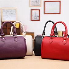 Women Leather Handbag Shoulder Party Crossbody Bag Messenger Satchel Tote Red US