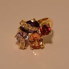 Dolly-Bijoux Fantaisie Grosse Bague T62 Sertie Gros Diamant Cz Multicolore 20mm