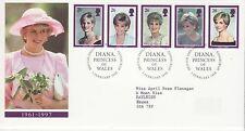 GB Stamps First Day Cover Commemoration Diana Princess of Wales SHS Text 1998