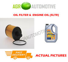 PETROL OIL FILTER + LL 5W30 ENGINE OIL FOR PEUGEOT 206 SW 1.4 75 BHP 2002-07