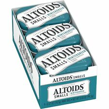 Altoids Smalls Sugar Free Wintergreen Mints 0.37-Ounce Tins Pack of 9 NEW