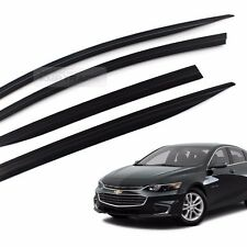 Smoke Window Sun Vent Visor Rain Guard Molding Trim for CHEVROLET 2016-17 Malibu