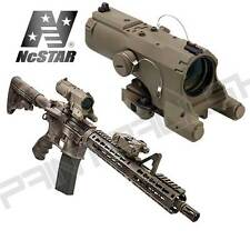 NcSTAR ECO MOD3 4x Magnification 34mm Blue Red illumination Rifle Scope - Tan