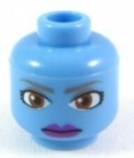 LEGO STAR WARS - Minifig, Head Alien, Brown Eyes & Purple Lips (Aayla Secura)