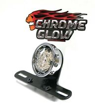 Sparto Custom Classic Retro LED Motorcycle Brake-Taillight w/ Tag Mount (Chrome)