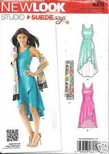 6211 MISSES DRESS IN TWO LENGTHS WAIST CUTOUTS SIZES 4-16 NEW LOOK PATTERN