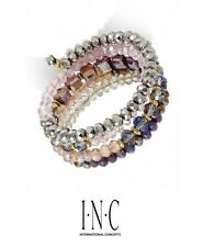 NEW $29 M Haskell for INC Crystal Beaded Coil Wrap Serpent Bracelet NWT
