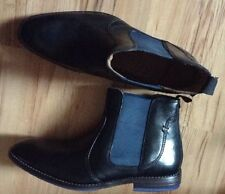 NEW ��Clarks��Size 6 BLACK LEATHER ANKLE CHELSEA BOOTS (39.5 EU) Slip On £89.99