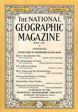 1927 National Geographic June - Big China Issue; Junks; Soochow; Cathay; Czech