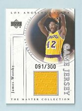 JAMES WORTHY 2000 UPPER DECK MASTER COLLECTION GAME JERSEY /300 LAKERS