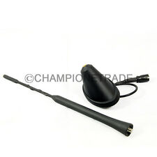 "9""Car Top Roof Mast Whip Antenna+Antenna Base Bottom for VW Beetle Jetta Golf CT"