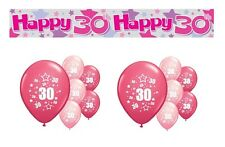 30th BIRTHDAY PARTY PACK DECORATIONS BANNER BALLOONS (AP.P.2)