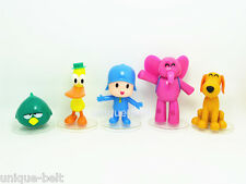 Set of 5 pcs Pvc Action figures Toy New Pocoyo ELLY PATO Loula Sleepy bird