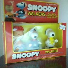 Vintage Peanuts Snoopy Charlie Brown Wind Up Walker Original Box Rare