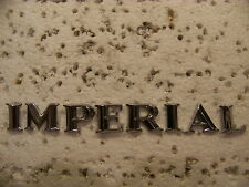 1964 65 CHRYSLER IMPERIAL TRUNK LID EMBLEMS LEBARON CROWN COUPE GHIA