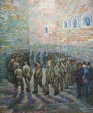 Vincent Van Gogh Prisoners Exercising 1890 Reproduction Fine Art Print A4