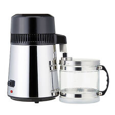 750W 4L Water Distiller Purifier 1L/Hour 304 Stainless Steel Container Filter