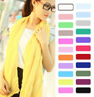 Free Girls Womens Pure Candy Long Crinkle Soft Scarf Wrap Voile Wrap Stole Shawl