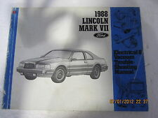 LINCOLN MARK VII 1988 ELECTRICAL & VACUUM TROUBLE SHOOTING MANUAL