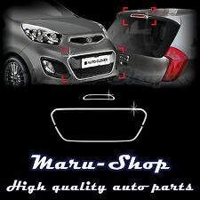 Chrome Bumper Radiator Grille Cover Tirm for 11~ Kia Picanto/Morning 5DR