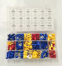 360pc Electric Terminal Wire Assortment Connector Spade Butt Ring Bullet male