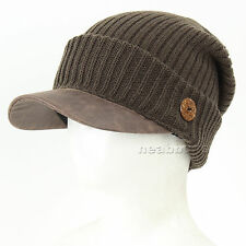 brim BEANIE visor chic best winter Hats man woman ski snowboard Cap DBsB KHAKI