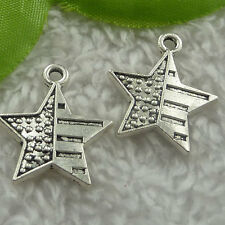 Free Ship 180 pieces tibet silver star charms 23x20mm #2429
