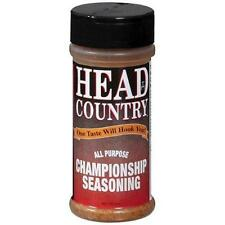 One 6 oz. HEAD COUNTRY ALL PURPOSE CHAMPIONSHIP SEASONING, BARBECUE, MEAT RUB