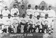 1932 PITTSBURGH CRAWFORDS 8X10 TEAM PHOTO BASEBALL PICTURE NEGRO LEAGUE