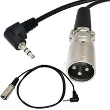 "6Ft XLR male plug to Right Angle 3.5mm 1/8"" TRS stereo Microphone Cable Wire New"