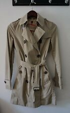 AUTHENTIC BURBERRY CLASSIC TRENCH WITH REMOVABLE SIGNATURE CHECK LINING - SIZE 2