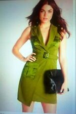 Womens Missguided* Kahki/Olive Green Military Style Dress size6* BNWT