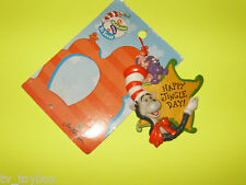 "Dr. Seuss CAT IN THE HAT ""Happy Jingle Day"" Holiday Ornament MOC from 1998"