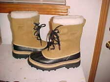 NEW Sorel Men's Caribou Leather Winter Snow Boots,  Waterproof, USA SIze 8