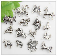 30pcs Mixed Horse Antique Silver Charms Pendants Findings 2C
