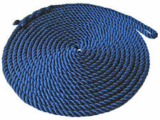 "1/2"" x 25´ BLUE 3 STRAND PREMIUM TWISTED PP BOAT DOCK LINE W/EYE - FIVE OCEANS"