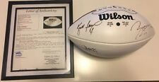 Brett Favre Troy Aikman Warren Moon Jim Kelly Auto Autographed Football Ball JSA