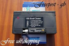 VHS VIDEO RECORDER WET & DRY HEAD CLEANER / NASTRO DI PULIZIA / CASSETTA-CON FLUIDO