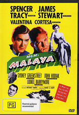 MALAYA - SPENCER TRACY & JAMES STEWART   NEW ALL REGION DVD