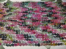 "5x5mm Faceted Briolette Teardrop Shape Tourmaline 13""-14"" INCH Stones Beads !%"