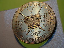 UK GB 1820 FANTASY CROWN 40mm GEORGE IIII 1820 GOLDEN PROOF PATTERN A32 H5/H7