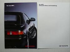Prospekt Toyota MR 2 zur Premiere, 7.1990, 14 Seiten + techn. Daten/Ausstattung