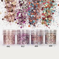 Nail Glitter Sequins Sheets Tips 3D Nail Art Manicure Decoration DIY Colorful
