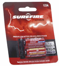 New Genuine SUREFIRE CR123A Batteries x2 Card.UK seller SF123A Lithium 3 Volt