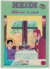 HEIDI dalla TV N.9 RITORNO A CASA a fumetti comics editrice edierre 1978